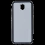 Coque Souple Noir et plaque Alu pour Samsung J7 2017
