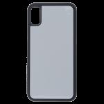 Coque Souple Noir et plaque Alu pour Apple iPhone X