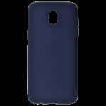 Coque TPU Soft Touch Bleu Samsung J7 2017