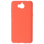 Coque TPU Soft Touch Rouge Huawei Y6 2017