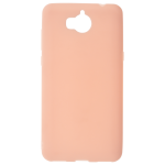 Coque TPU Soft Touch Rose Huawei Y6 2017