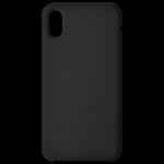 Coque Silicone Liquide Noir pour Apple iPhone X