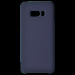 Coque Silicone Liquide Bleu pour Samsung S8