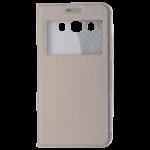 Etui Folio Fenêtre Or pour Samsung J5 2016