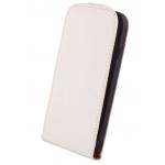 Etui à Rabat Elegance Blanc pour Samsung S5 Mini