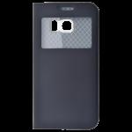 Etui Folio Fenêtre NOIR pour Samsung S6 Edge