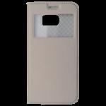 Etui Folio Fenêtre Or pour Samsung S7 Edge
