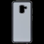 Coque Souple Noir et plaque Alu pour Samsung A8 2018