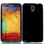 Coque TPU Glossy Noir pour Samsung Note 4