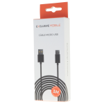 Cable USB Micro USB 1M Noir - Packaging