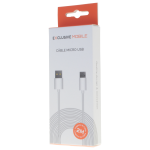 Cable USB Micro USB 2M Blanc - Packaging
