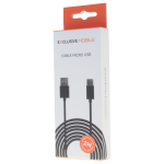 Cable USB Micro USB 2M Noir - Packaging