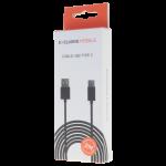 Cable USB Type C 2M Noir - Packaging