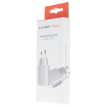 Chargeur Secteur Double USB 2.4A Blanc - Packaging