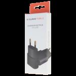 Chargeur Secteur 1xUSB 1A Noir - Packaging