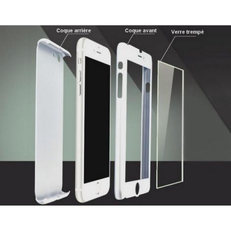 coque 360 iphone 8 plus blanc