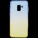 Coque Caméléon Bleu/Or pour Samsung A8 2018