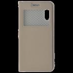 Étui Folio avec Fenêtre Or pour Huawei P20
