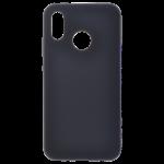 Coque Silicone Liquide Noir pour Huawei P20 Lite