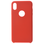 Coque Silicone Liquide Rouge pour Apple iPhone XS Max