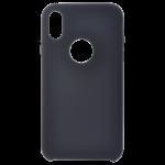 Coque Silicone Liquide Noir pour Apple iPhone XR