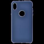 Coque Silicone Liquide Bleu pour Apple iPhone XS Max