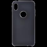 Coque Silicone Liquide Noir pour Apple iPhone XS Max
