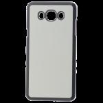 Coque Rigide Noire et Plaque Alu pour Personnalisation Samsung J7 2016