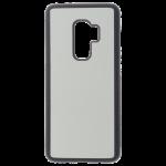 Coque Souple Noir et plaque Alu pour Samsung S9 Plus