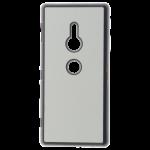 Coque Rigide Noir et plaque Alu pour Sony XZ2
