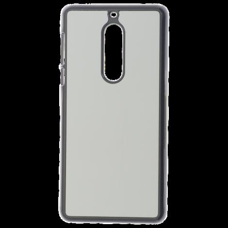 Coque Rigide Noir et plaque Alu pour Nokia 5