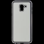 Coque Souple Noir et plaque Alu pour Samsung J6 2018