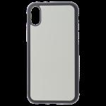 Coque Souple Noir et Plaque Alu pour Apple iPhone XR