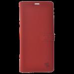 Étui Folio Trendy Rouge pour Samsung J6 Plus 2018