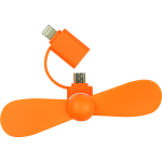 Mini Ventilateur Orange Lightning/Micro USB