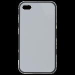 Coque Souple Noir et plaque Alu pour Apple iPhone 4/4S