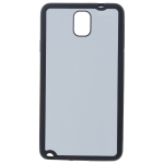 Coque Souple Noir et plaque Alu pour Samsung Note 3