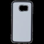 Coque Souple Noir et plaque Alu pour Samsung S6 Edge