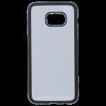 Coque Souple Noir et plaque Alu pour Samsung S7 Edge
