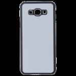 Coque Rigide Noir et plaque Alu pour Samsung A8 2015
