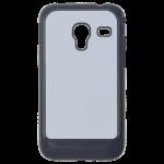 Coque Rigide Noir et plaque Alu pour Samsung Ace Plus