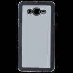 Coque Rigide Noir et plaque Alu pour Samsung J7