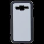 Coque Rigide Noir et plaque Alu pour Samsung J2