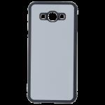 Coque Rigide Transparent et plaque Alu pour Samsung A8 2015