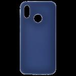 Coque Silicone Liquide Bleu pour Huawei P20 Lite