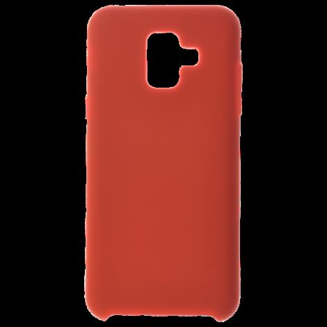 Coque Silicone Liquide Rouge pour Samsung A6 2018