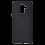 Coque Silicone Liquide Noir pour Samsung A6 Plus 2018