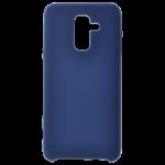Coque Silicone Liquide Bleu pour Samsung A6 Plus 2018