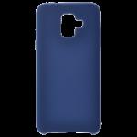 Coque Silicone Liquide Bleu pour Samsung A6 2018