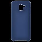 Coque Silicone Liquide Bleu pour Samsung J6 2018